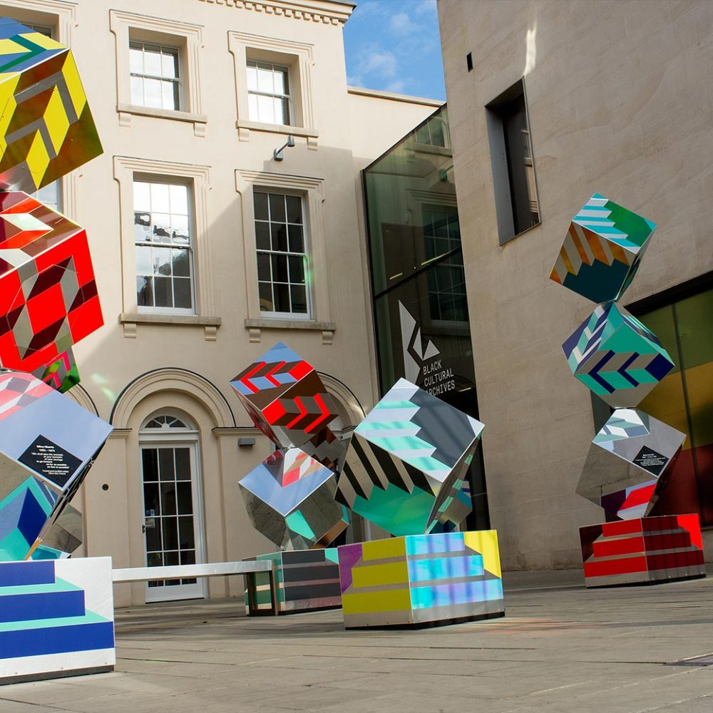 Brixton Design Trail 2016 - We Stand As Living Monuments by 2MZ at Black Cultural Archives