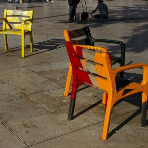 Take a seat by Edible Bus Stop