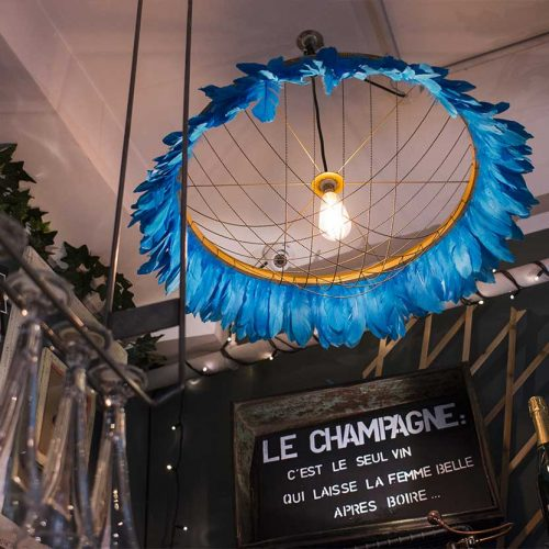 Feather chandliers by Coldharbourlights