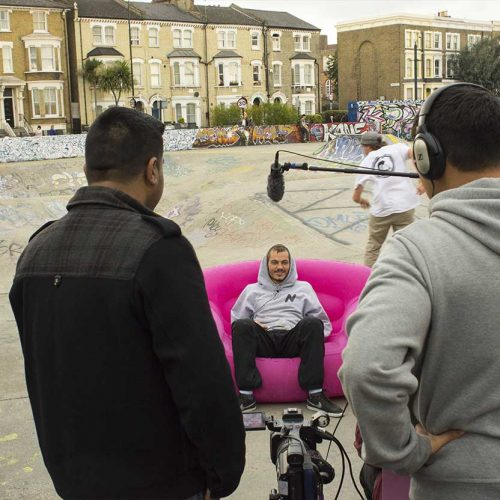 Pink Sofa by Lambeth College media students