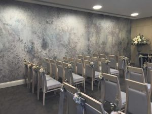 Elli Popp wedding wallpaper in Lambeth town hall